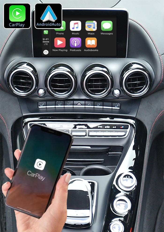 Système Apple Carplay sans fil et Android Auto pour Mercedes AMG GT depuis 03/2015