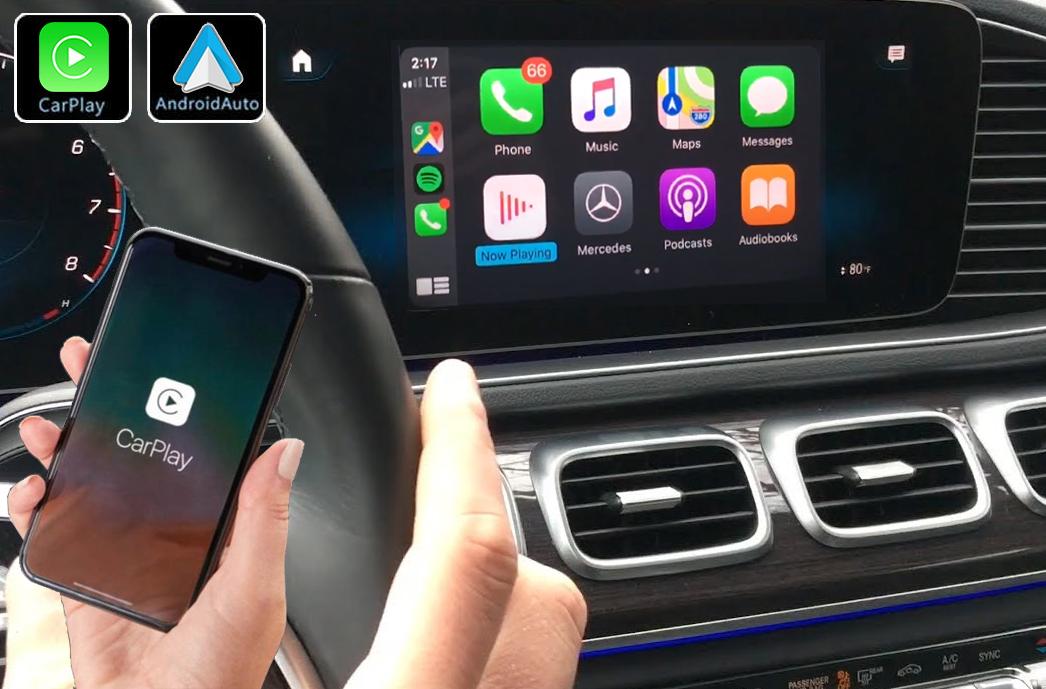 Système Apple Carplay sans fil et Android Auto pour Mercedes GLE et GLS depuis 2019