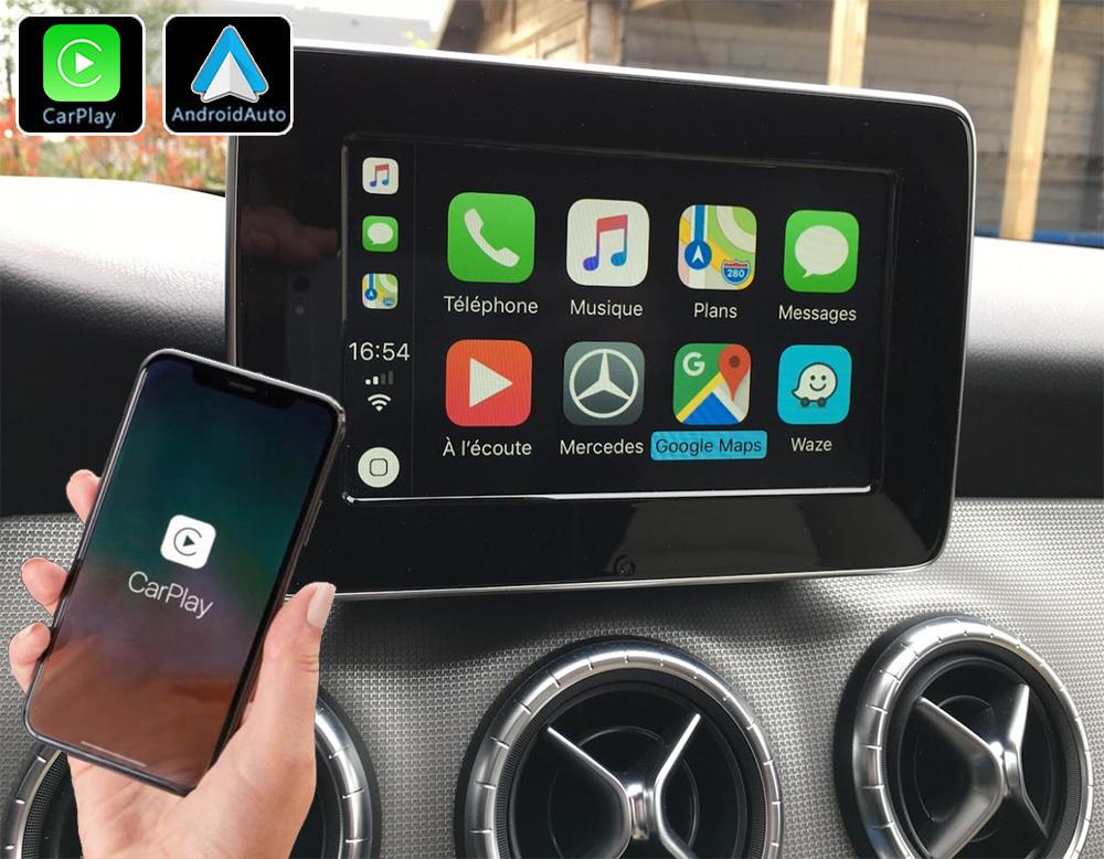 Système Apple Carplay sans fil et Android Auto pour Mercedes CLA, GLA et Classe A de 2013 à 2019