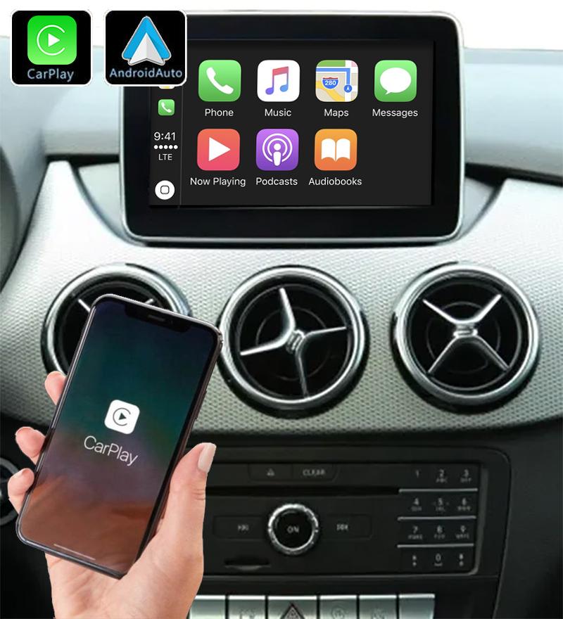 Système Apple Carplay sans fil et Android Auto pour Mercedes Classe B de 2013 à 2018