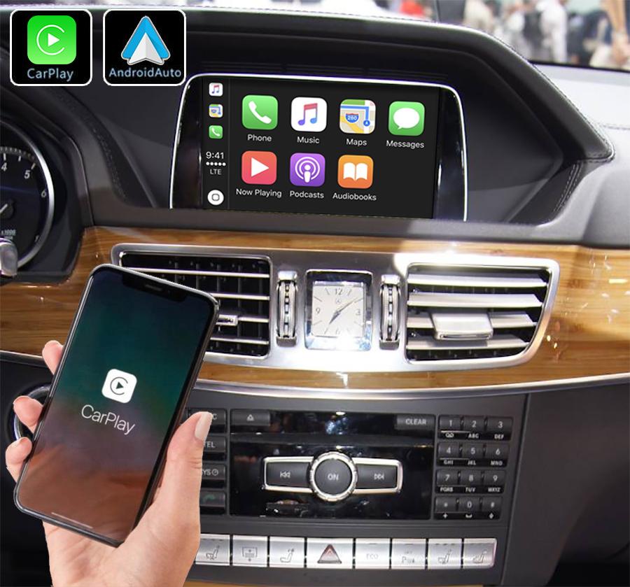 Système Apple Carplay sans fil et Android Auto pour Mercedes Classe E W212 de 2009 à 2016