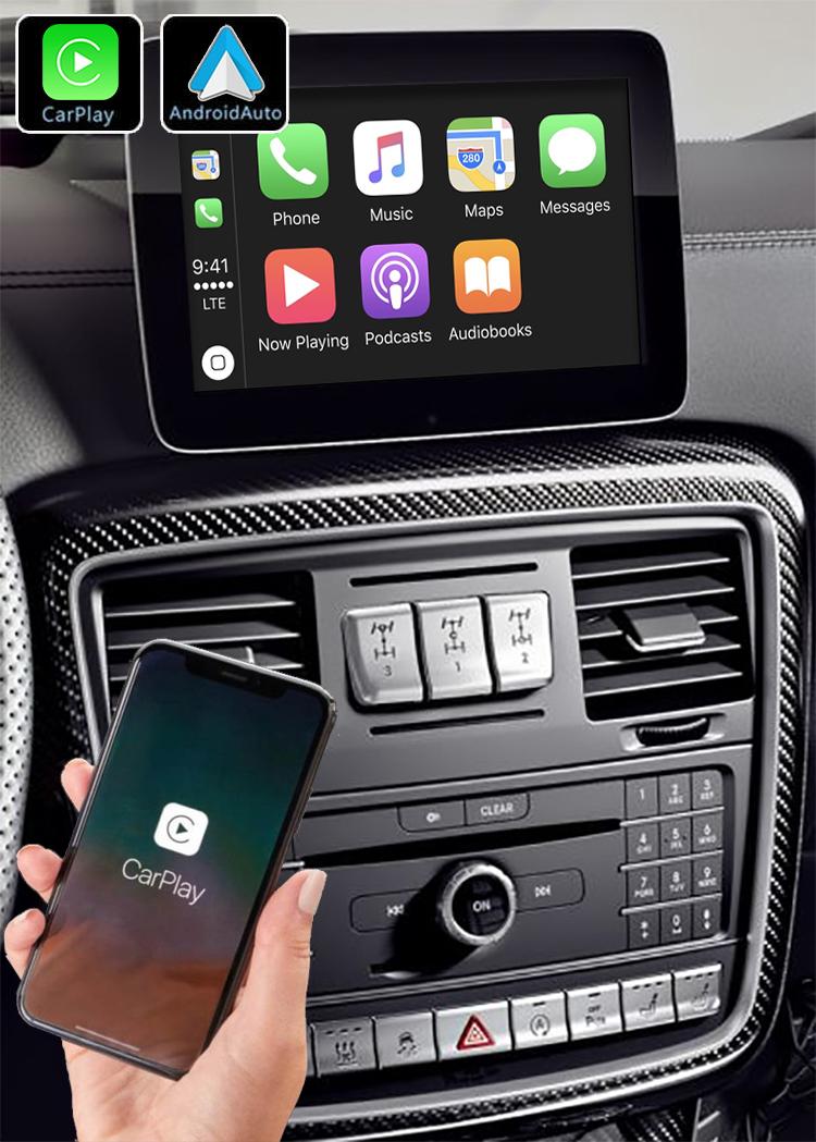 Système Apple Carplay sans fil et Android Auto pour Mercedes Classe G W463 de 2012 à 2018