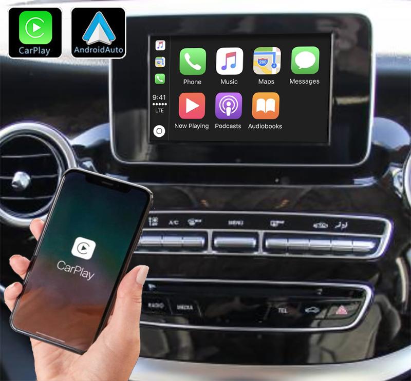 Système Apple Carplay sans fil et Android Auto pour Mercedes Classe V depuis 2015