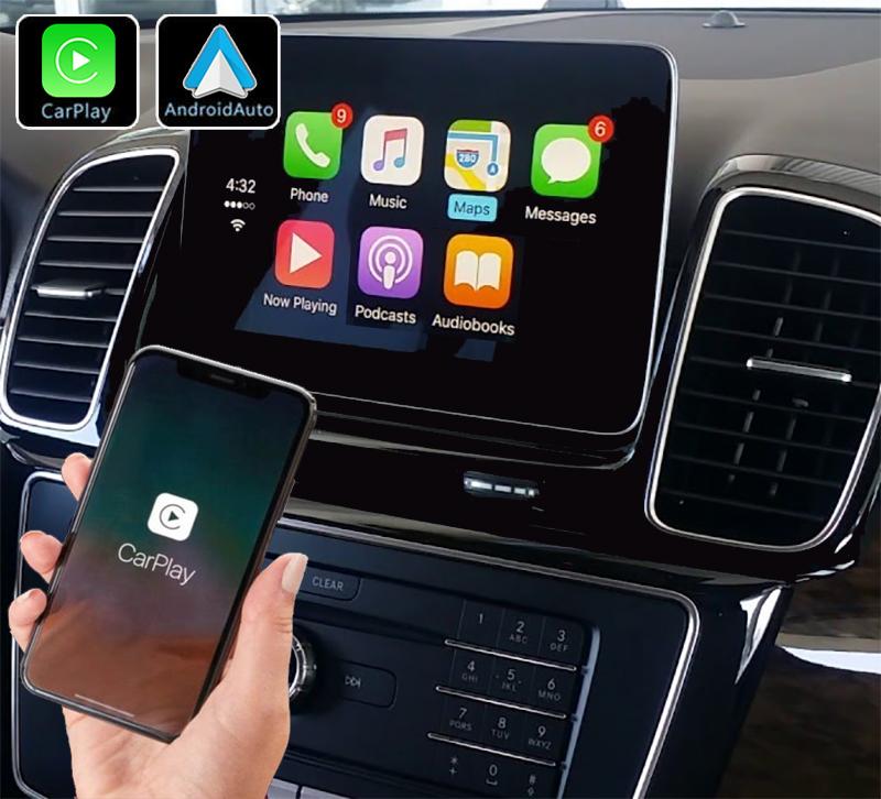 Système Apple Carplay sans fil et Android Auto pour Mercedes GLE et GLS de 2015 à 2019
