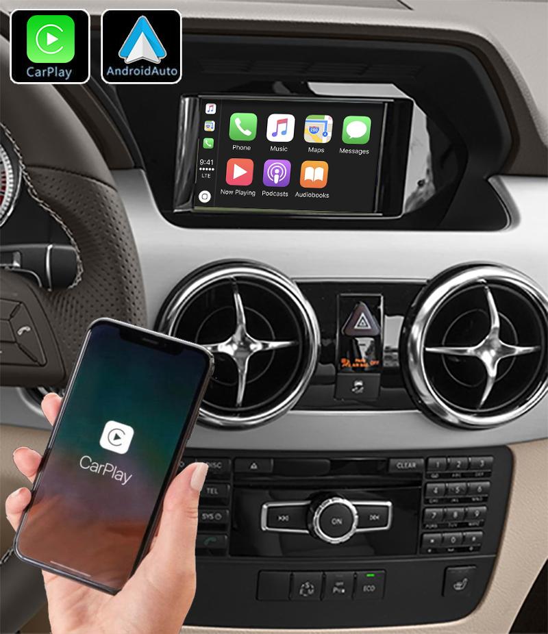Système Apple Carplay sans fil et Android Auto pour Mercedes GLK de 2008 à 2015