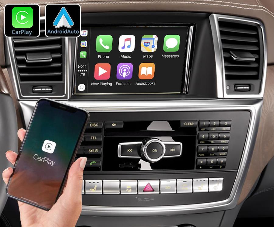 Système Apple Carplay sans fil et Android Auto pour Mercedes ML et GL de 2012 à 2016