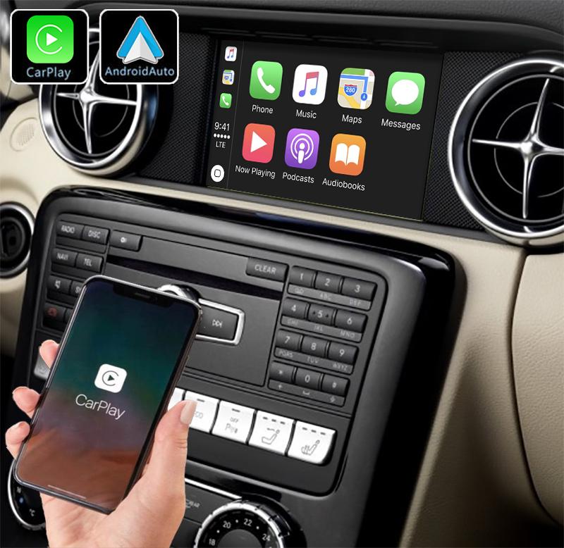 Système Apple Carplay sans fil et Android Auto pour Mercedes SLK et SLC de 2011 à 2018