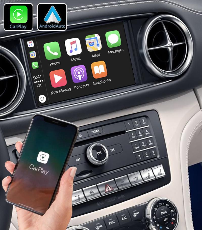 Système Apple Carplay sans fil et Android Auto pour Mercedes SL R231 de 2012 à 2019
