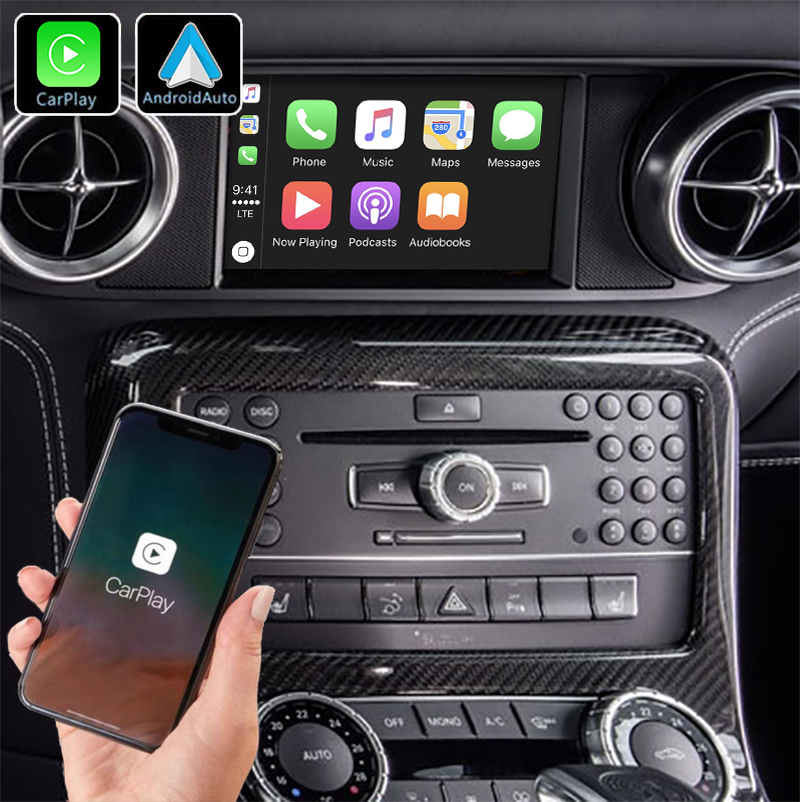 Système Apple Carplay sans fil et Android Auto pour Mercedes SLS de 2010 à 2014