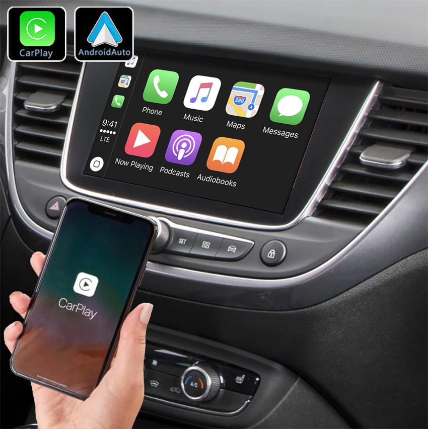 Système Apple Carplay sans fil et Android Auto pour Opel Crossland X à partir de 2017