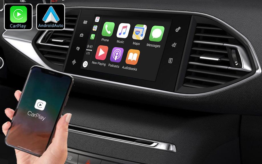 Système Apple Carplay sans fil et Android Auto pour Peugeot 308 de 2013 à 2018