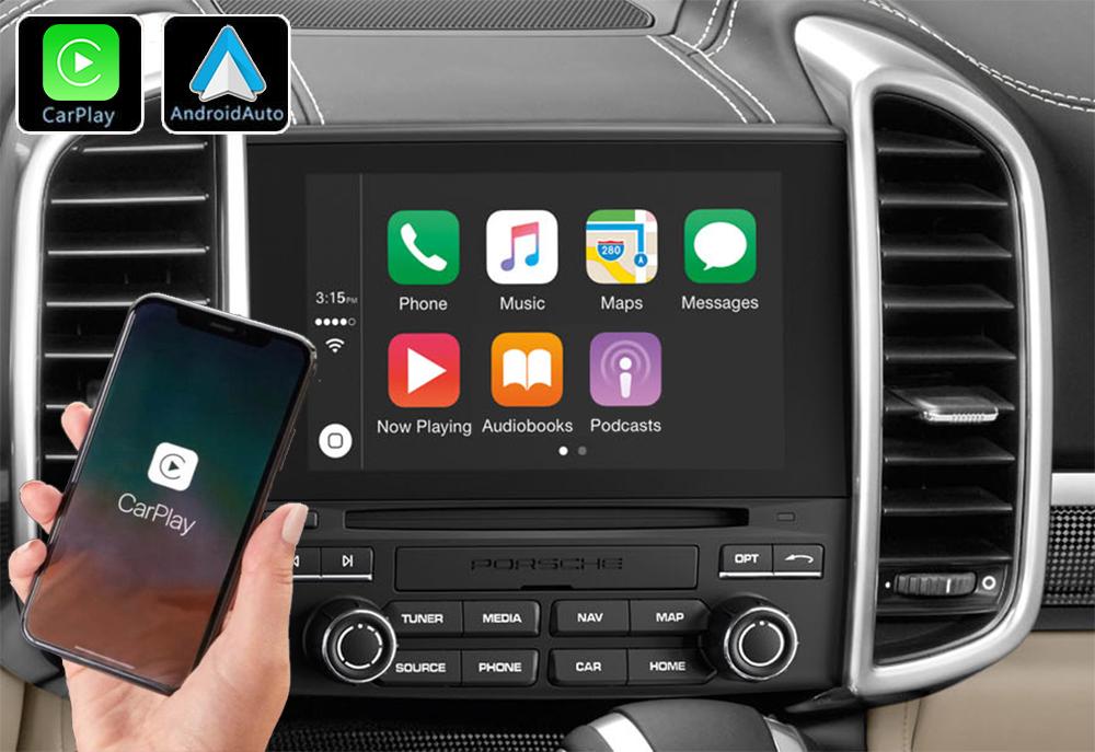 Système Apple Carplay sans fil et Android Auto pour Porsche Cayenne de 2010 à 2017