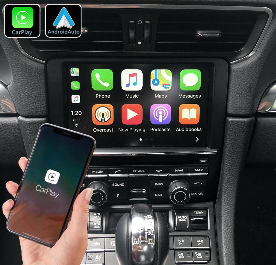 Système Apple Carplay sans fil et Android Auto pour Porsche 911, Boxster et Cayman de 2012 à 2018