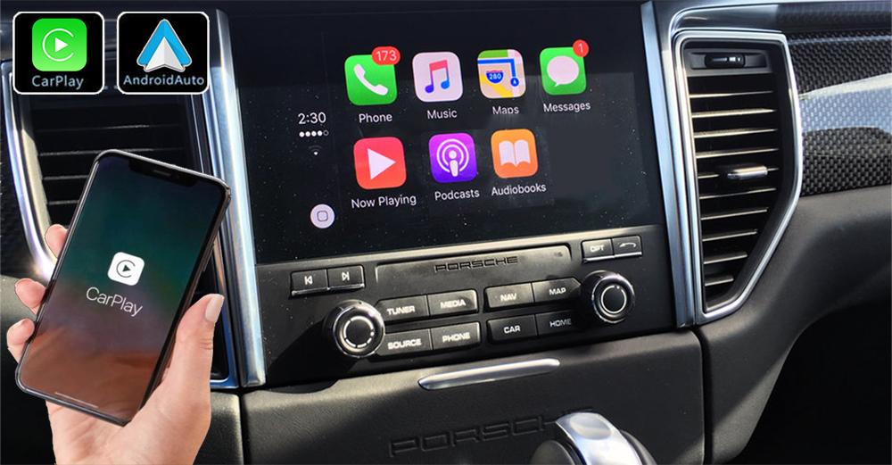 Système Apple Carplay sans fil et Android Auto pour Porsche Macan de 2014 à 2018