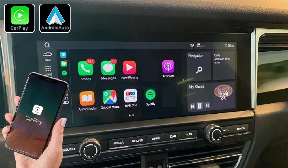 Système Apple Carplay sans fil et Android Auto pour Porsche Macan depuis 2019