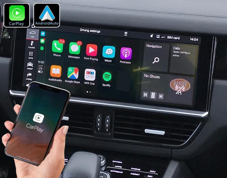 Système Apple Carplay sans fil et Android Auto pour Porsche Cayenne depuis 2019