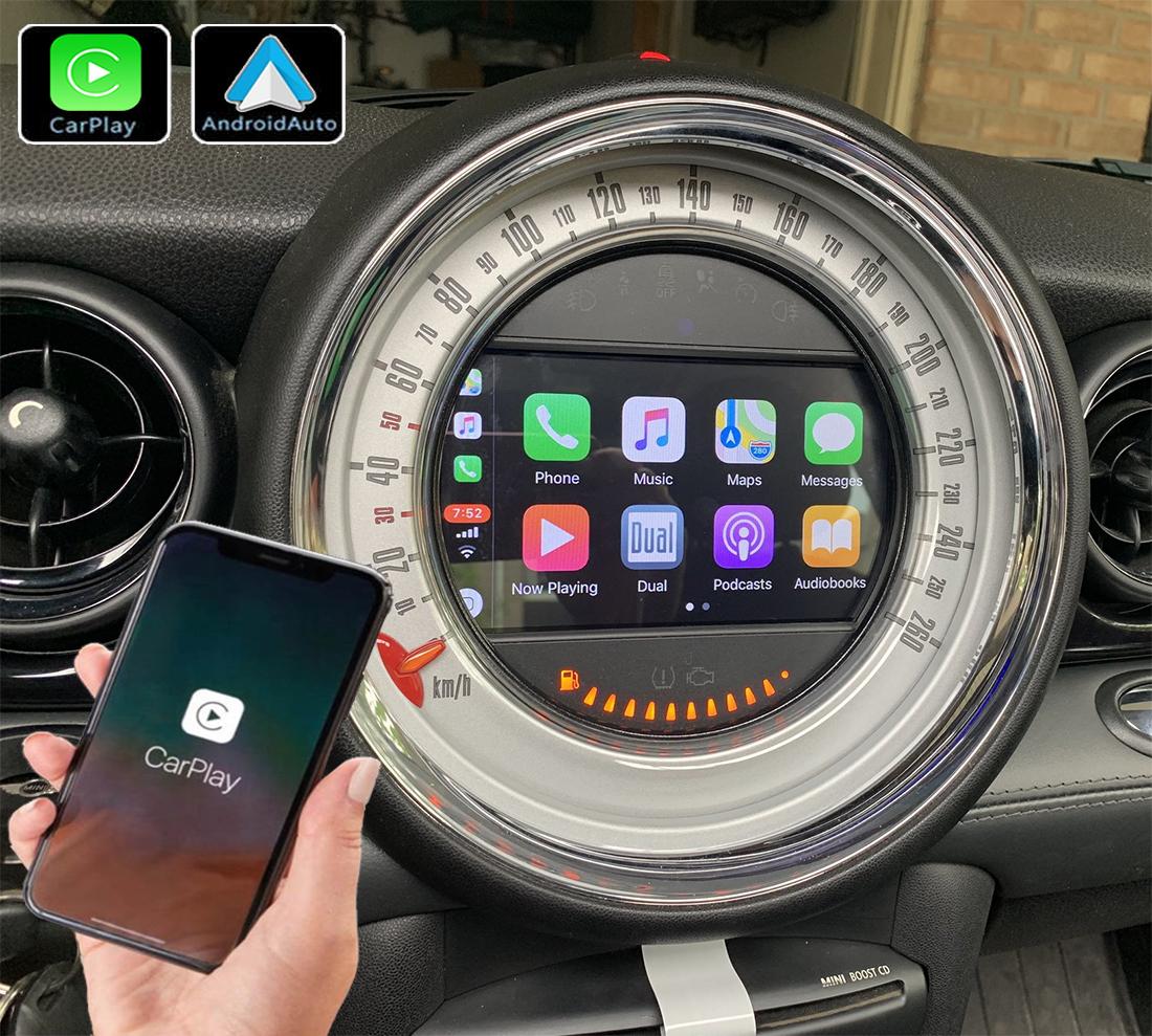 Système Apple Carplay sans fil et Android Auto pour Mini One, Cooper, Clubman de 2007 à 2014