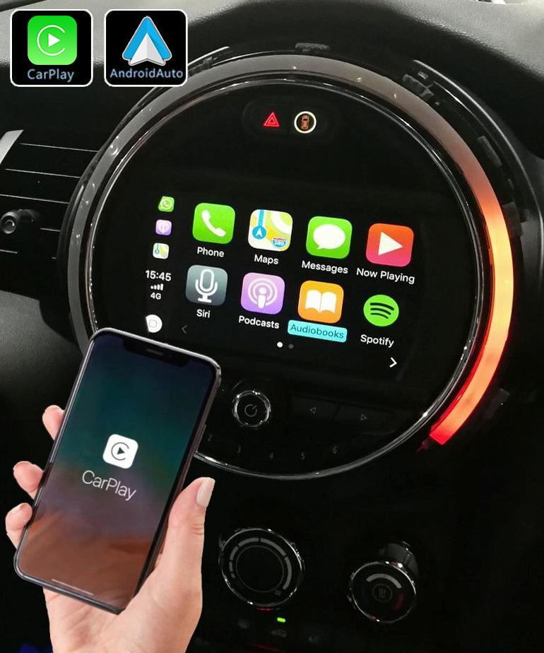 Système Apple Carplay sans fil et Android Auto pour Mini Cooper F55 F56 et Clubman F54