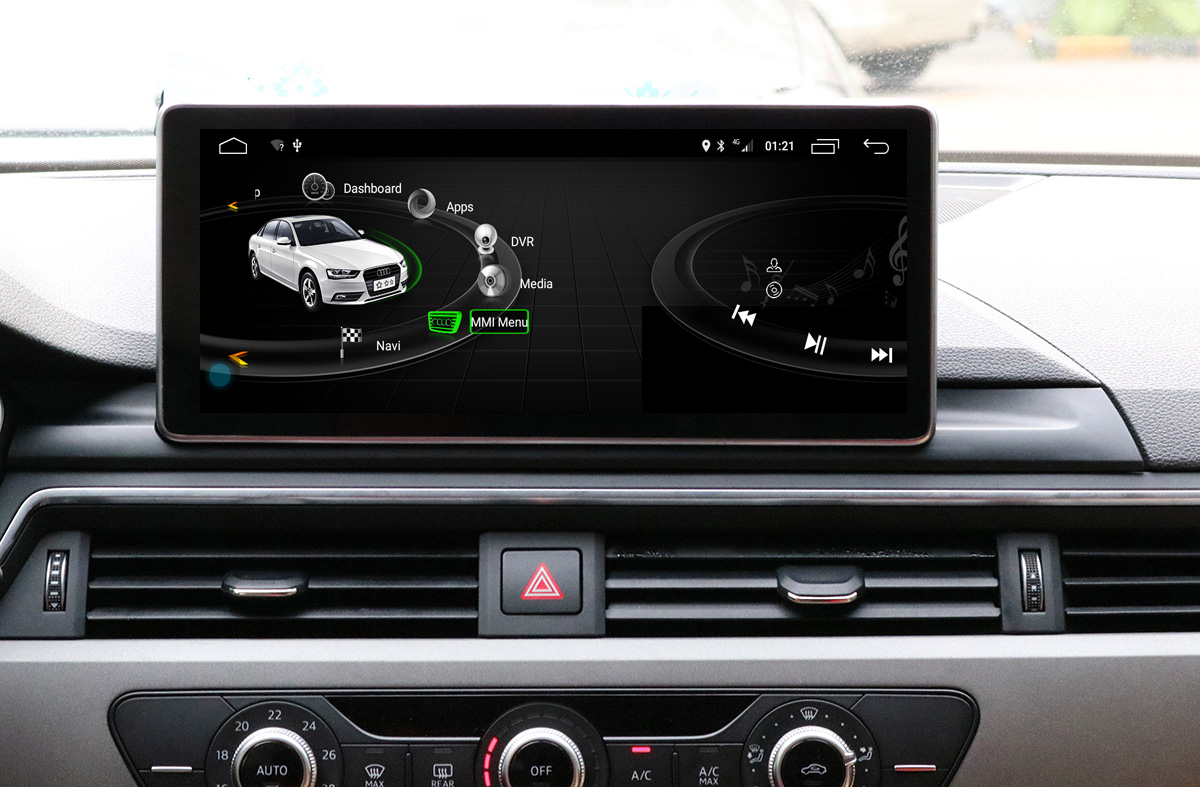 Ecran tactile Android 10.0 + Apple Carplay via USB Audi A4 et Audi A5 de 08/2015 à 2018