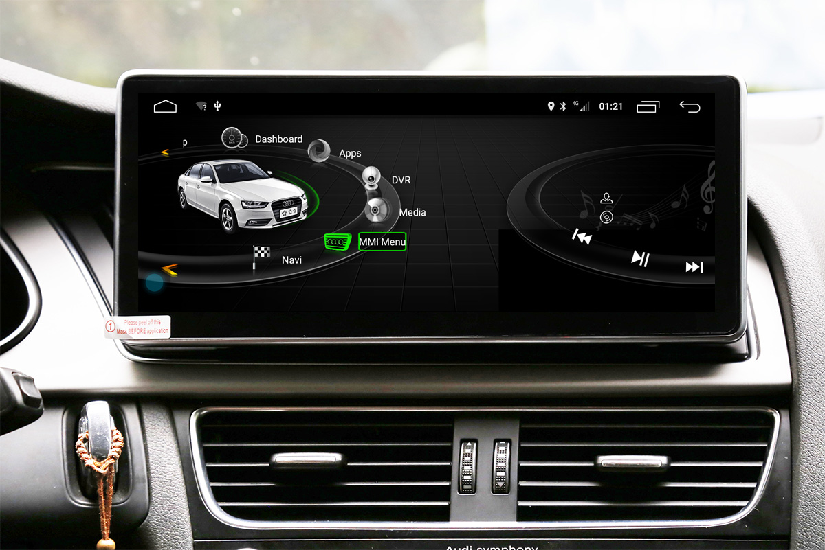 Ecran tactile Android 10.0 avec Apple Carplay Bluetooth Audi A4 et Audi A5 de 2008 à 2016
