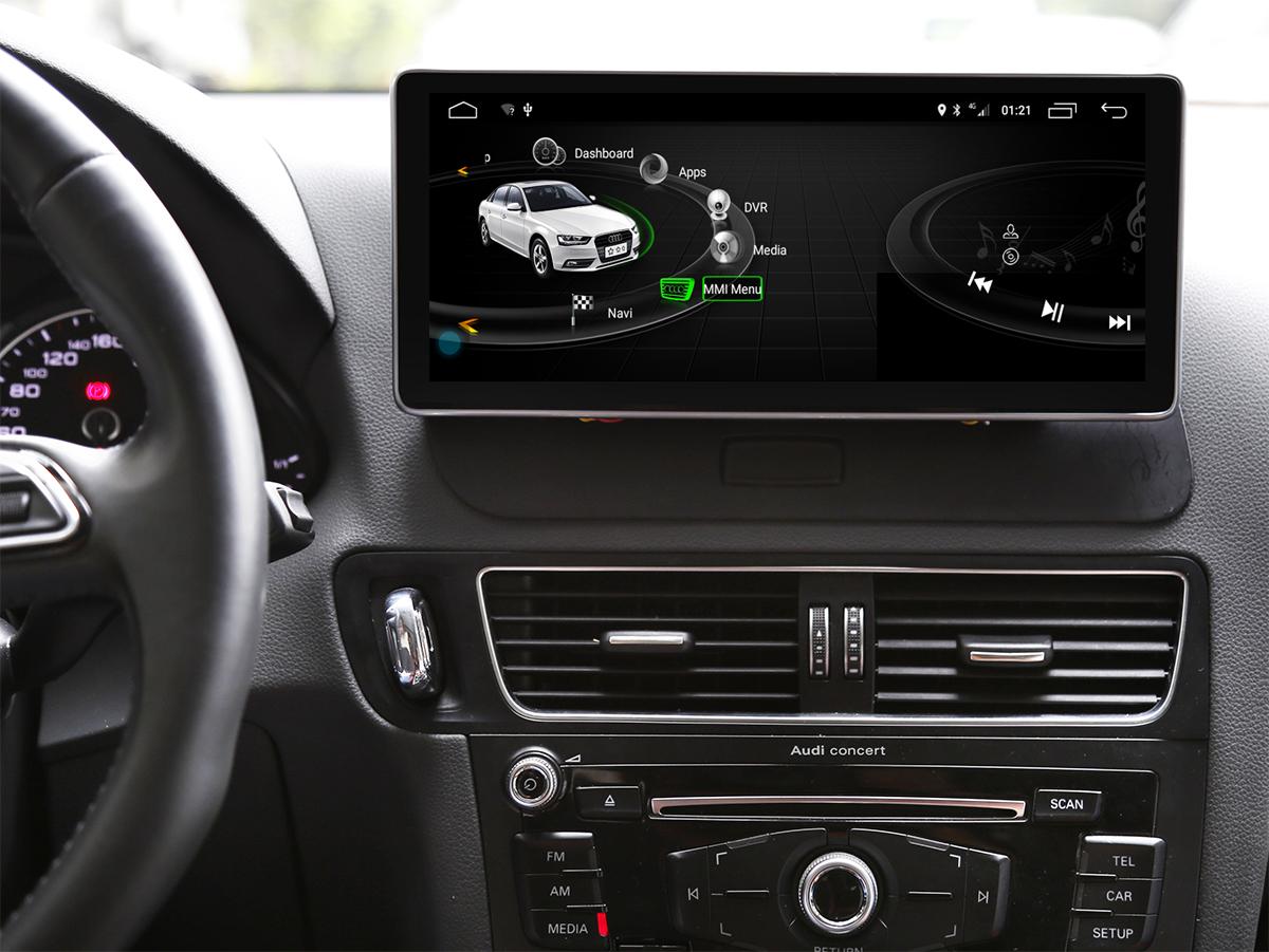 Ecran tactile Android 10.0 avec Apple Carplay Bluetooth Audi Q5 de 2009 à 2017