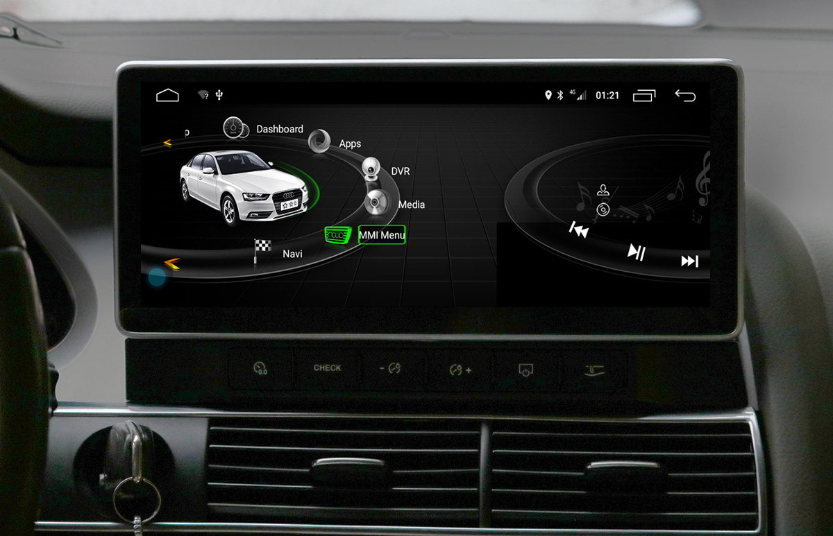 Ecran tactile Android 10.0 avec Apple Carplay Bluetooth Audi A6 de 2005 à 2011