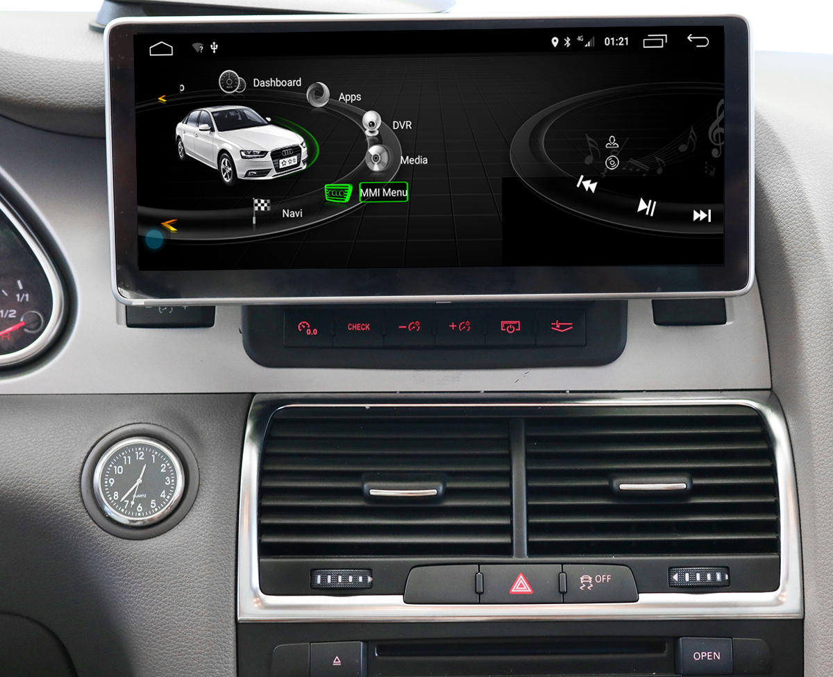 Ecran tactile Android 10.0 avec Apple Carplay Bluetooth Audi Q7 de 2005 à 2015