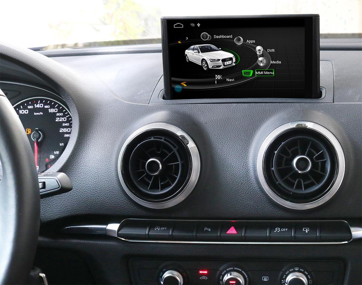 Ecran tactile Android 10.0 avec Apple Carplay Bluetooth Audi A3 de 2012 à 2018