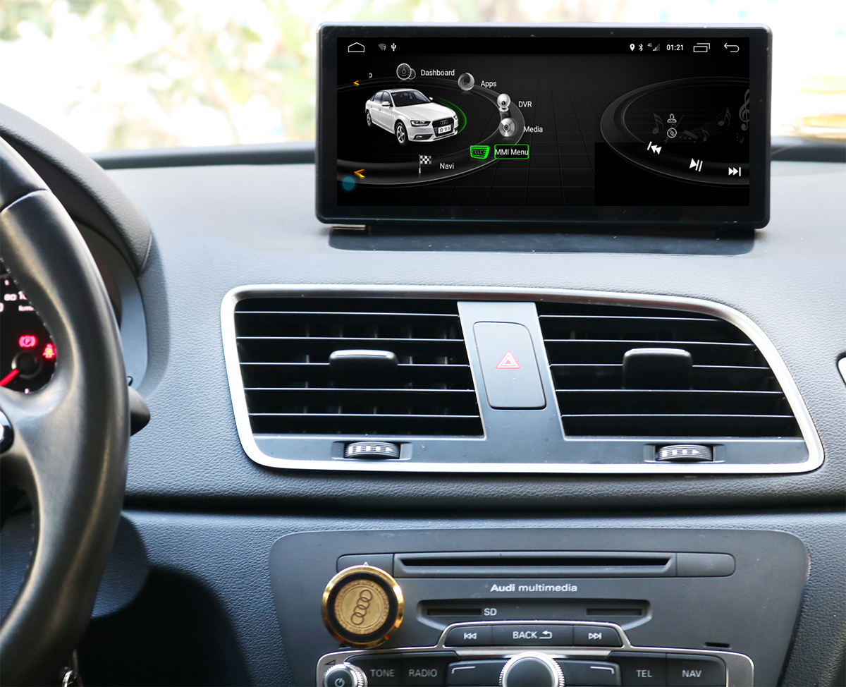 Ecran tactile Android 10.0 avec Apple Carplay Bluetooth Audi Q3 de 2011 à 2018