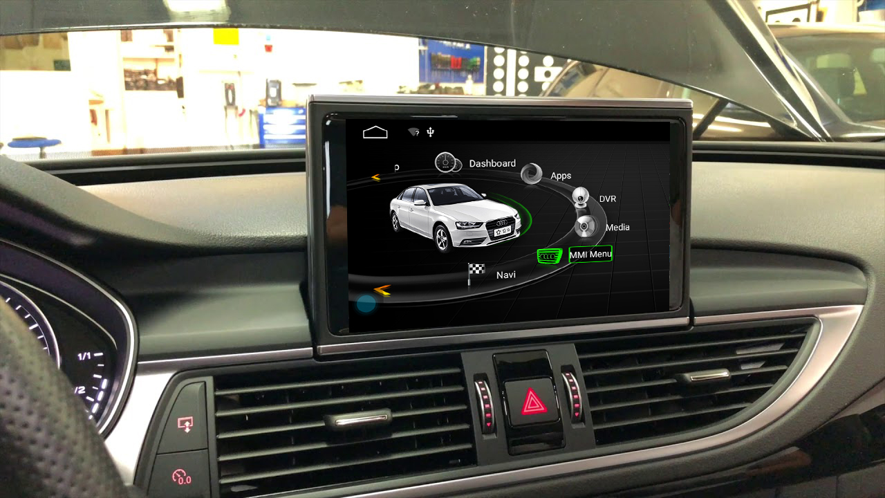 Ecran tactile Android 10.0 avec Apple Carplay Bluetooth Audi A6 de 2012 à 2018