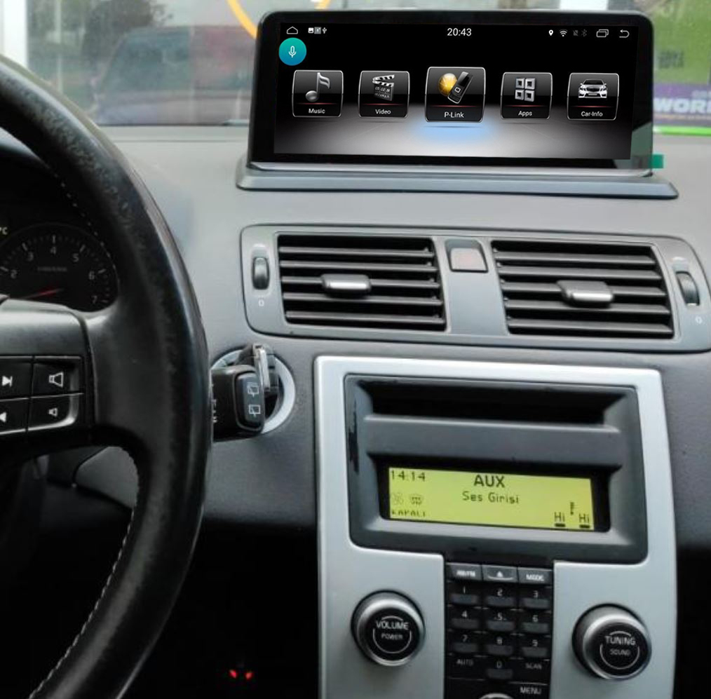Ecran tactile Android avec Apple Carplay sans fil Volvo S40 et Volvo C30 de 2004 à 2012