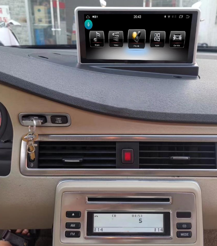 Ecran tactile Android avec Apple Carplay sans fil Volvo S80 de 2004 à 2012