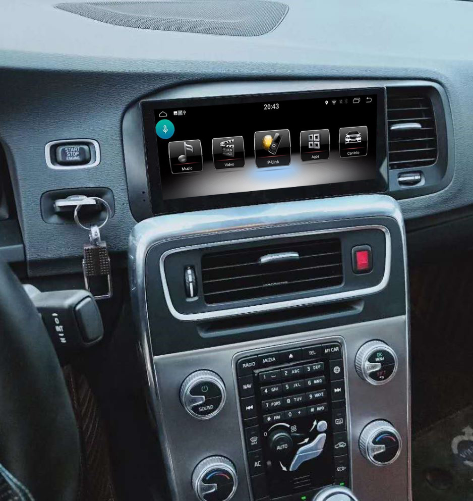 Ecran tactile Android avec Apple Carplay sans fil Volvo S60 et Volvo V60 de 2012 à 2018