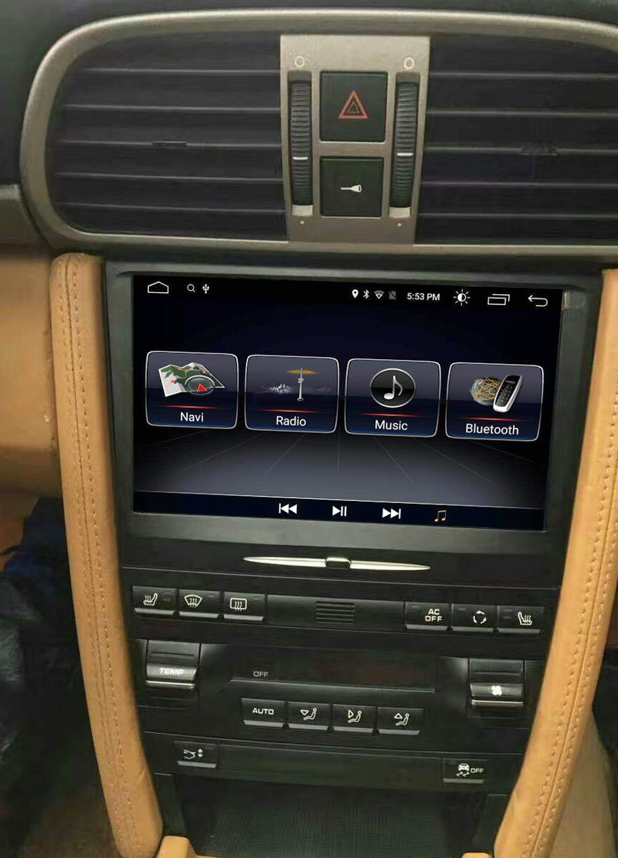 Autoradio Android 10.0 avec Apple Carplay Bluetooth Porsche 911 997, Boxster et Cayman de 2005 à 2012