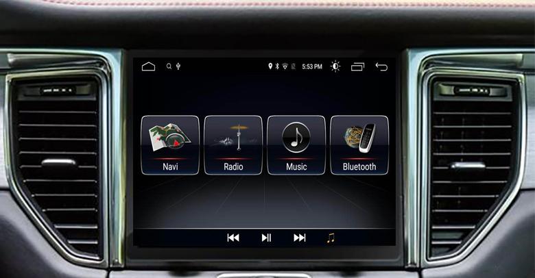 Autoradio à écran tactile Android 10.0 avec Apple Carplay Bluetooth Porsche Macan de 2014 à 2018