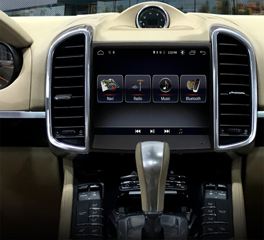 Ecran tactile Android 10.0 avec Apple Carplay Bluetooth Porsche Cayenne de 2010 à 2016