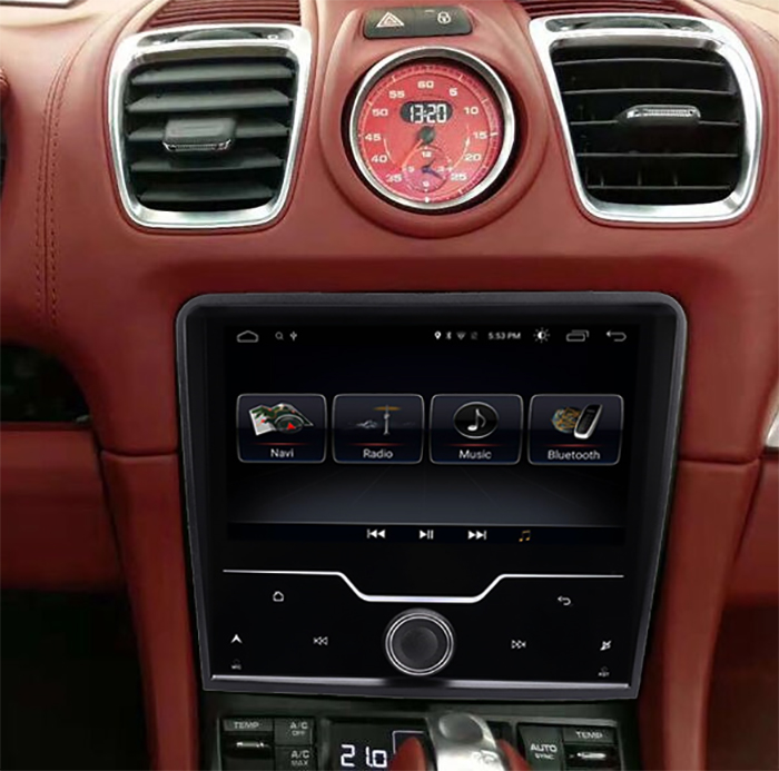 Ecran tactile Android 10.0 avec Apple Carplay Bluetooth Porsche 911, Boxster et Cayman de 2012 à 2018