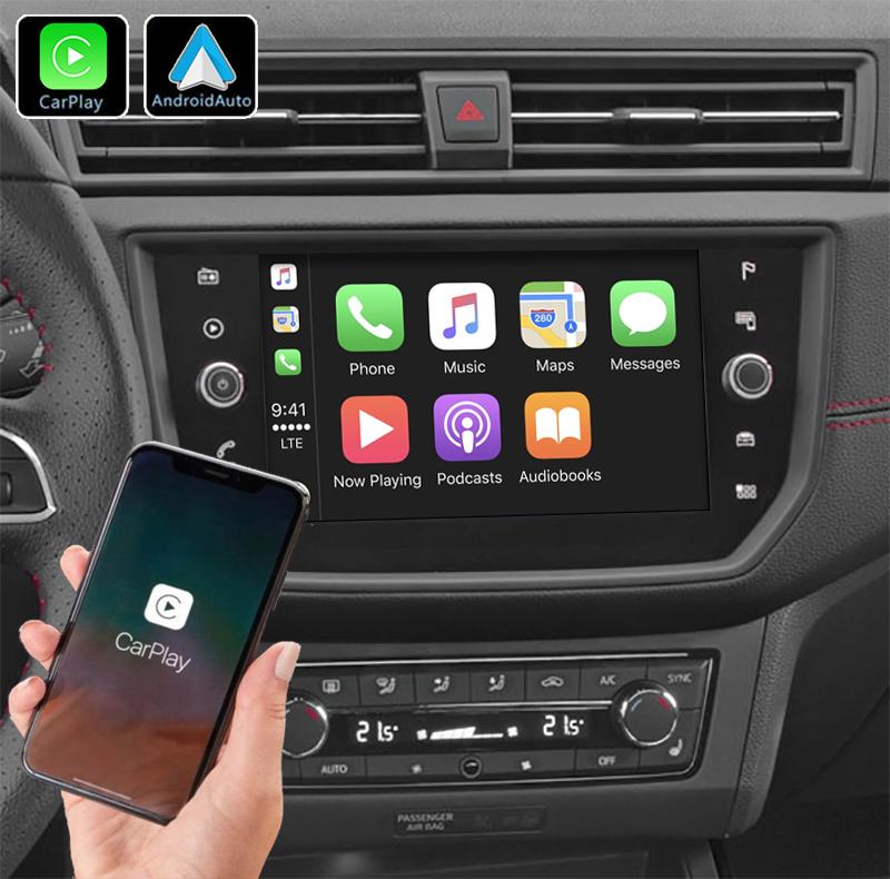 Système Apple Carplay sans fil et Android Auto pour Seat Ibiza et Arona depuis 2017