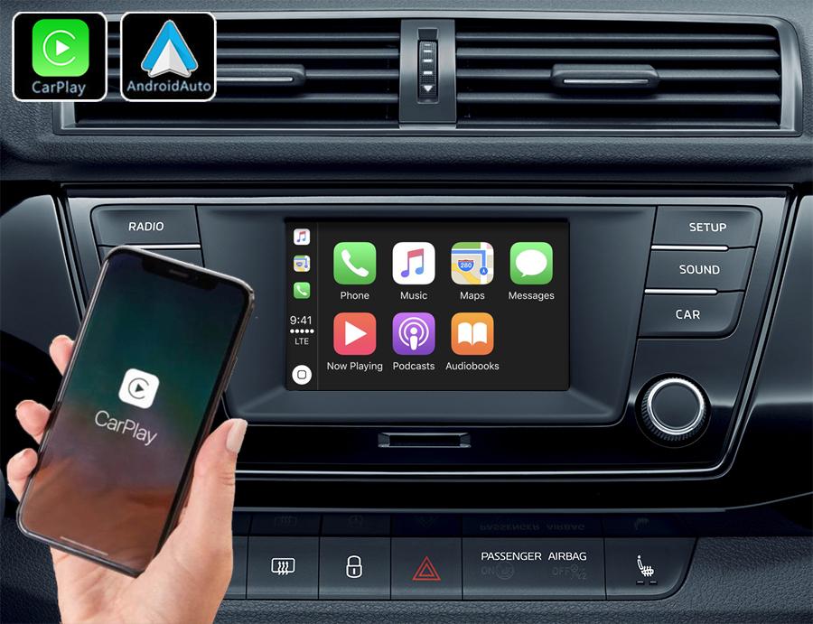 Système Apple Carplay sans fil et Android Auto pour Skoda Fabia depuis 2014