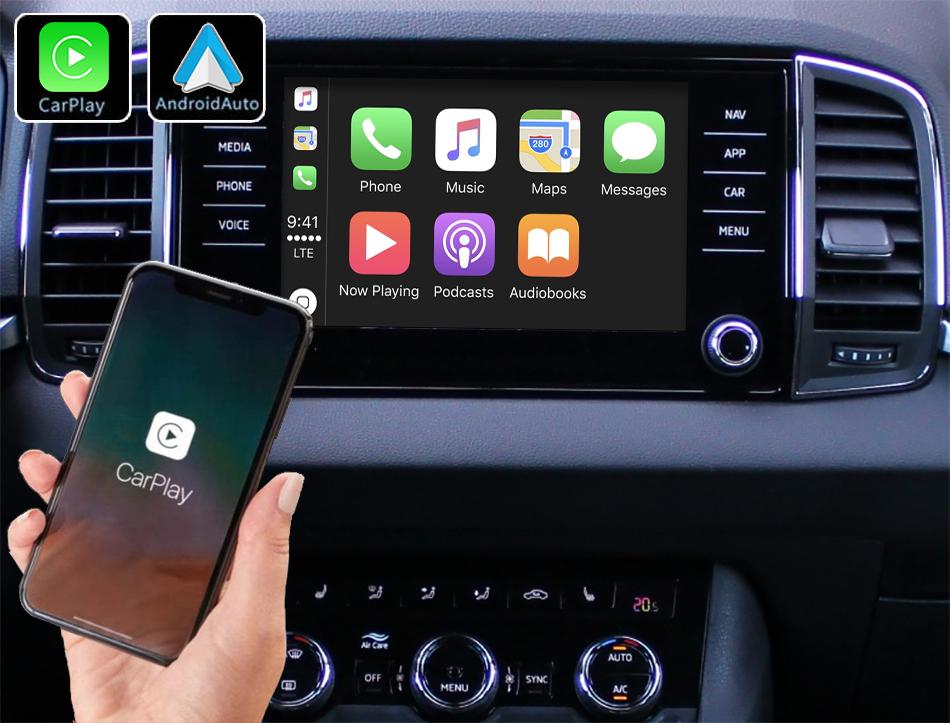 Système Apple Carplay sans fil et Android Auto pour Skoda Karoq depuis 2018