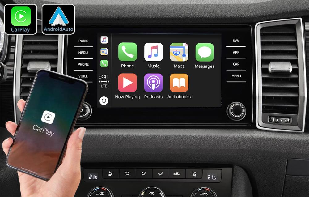 Système Apple Carplay sans fil et Android Auto pour Skoda Kodiaq depuis 2017