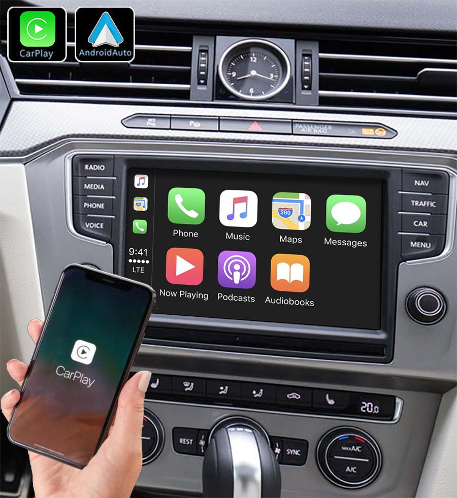 Système Apple Carplay sans fil et Android Auto pour Volkswagen Passat de 2016 à 2020