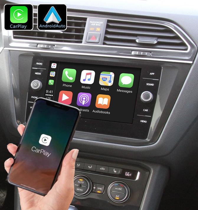 Système Apple Carplay sans fil et Android Auto pour Volkswagen Touran et Tiguan depuis 2016