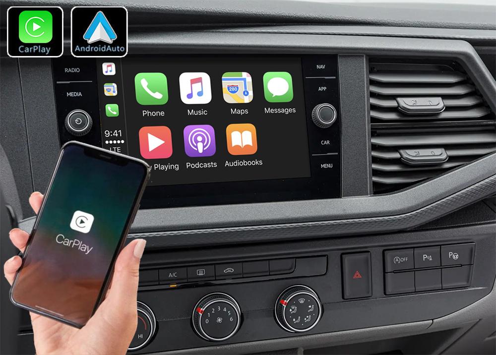 Système Apple Carplay sans fil et Android Auto pour Volkswagen Transporter depuis 2019