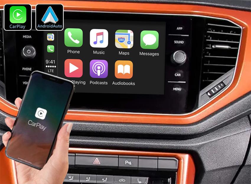 Système Apple Carplay sans fil et Android Auto pour Volkswagen T-Roc et T-Cross depuis 2018