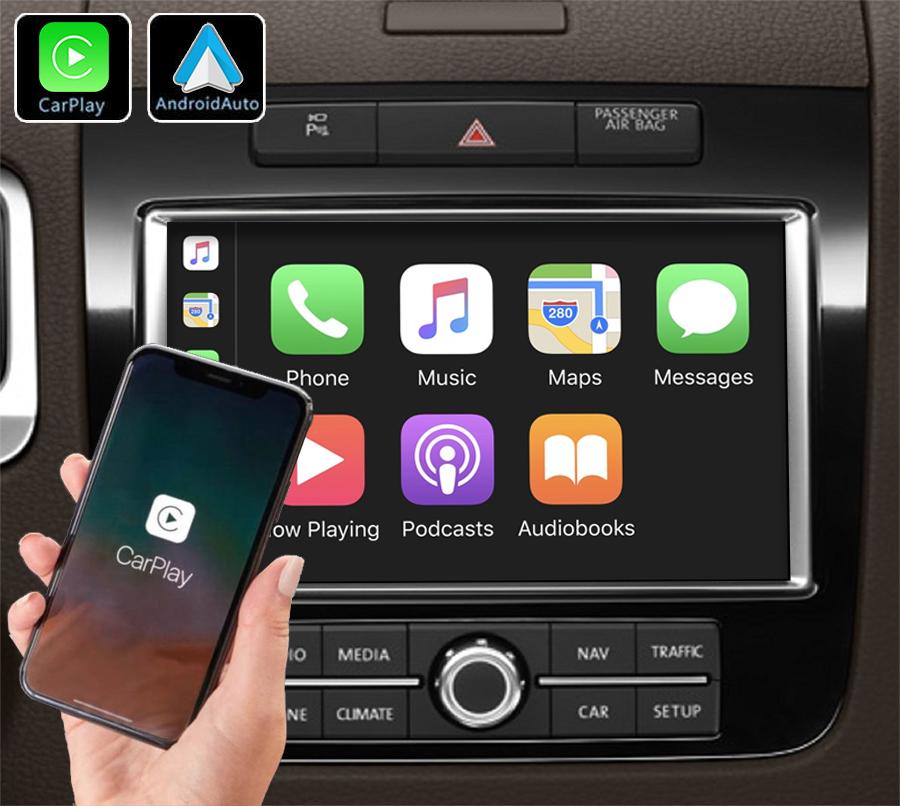 Système Apple Carplay sans fil et Android Auto pour Volkswagen Touareg de 2010 à 2017