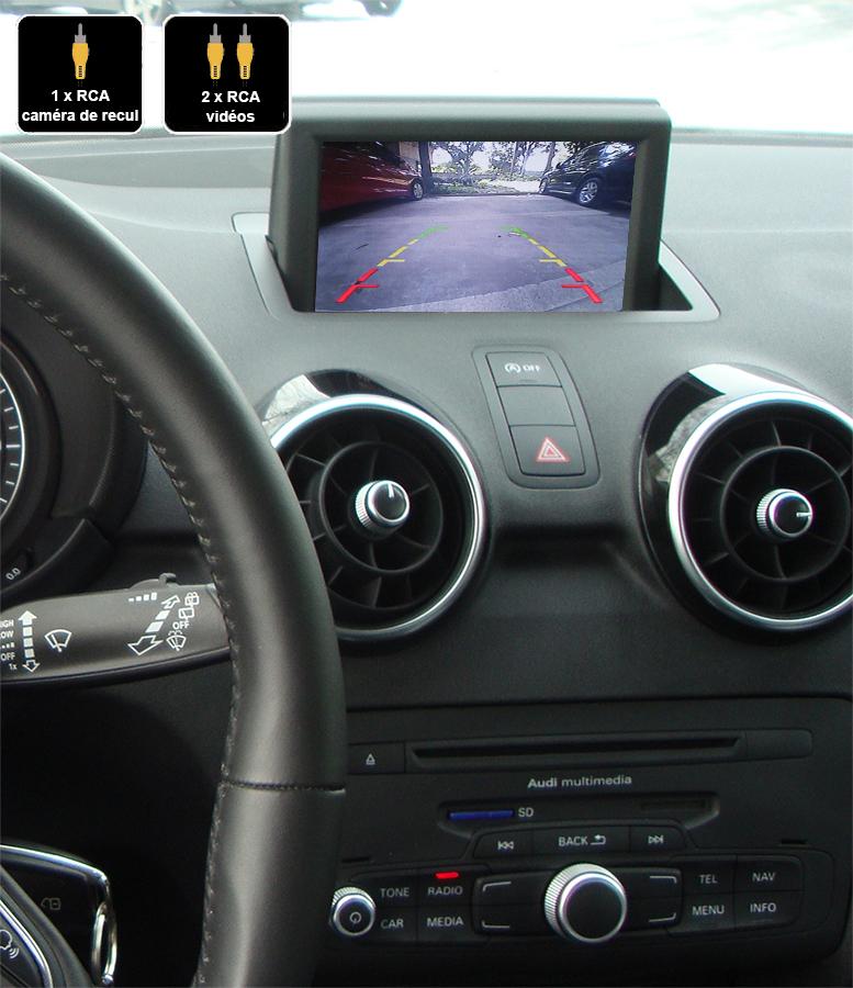Interface Multimédia vidéo pour caméra compatible Audi A1 de 2010 à 2018