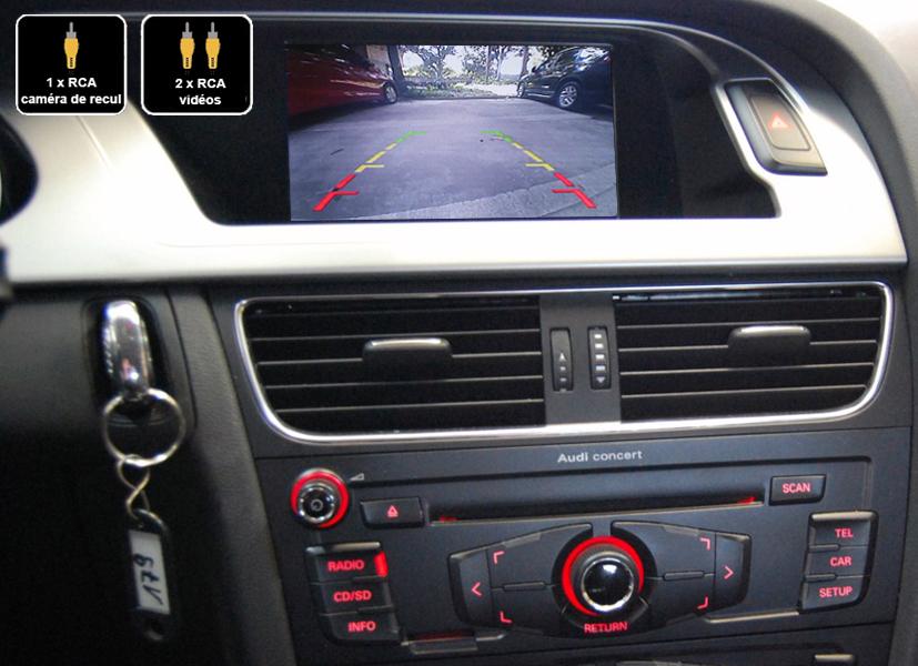 Interface Multimédia vidéo pour caméra compatible Audi A4 et Audi A5 de 2011 à 2016