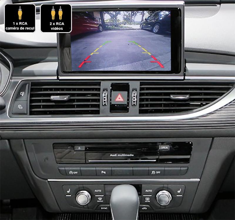 Interface Multimédia vidéo pour caméra de recul Audi A6 et Audi A7 de 2010 à 2018