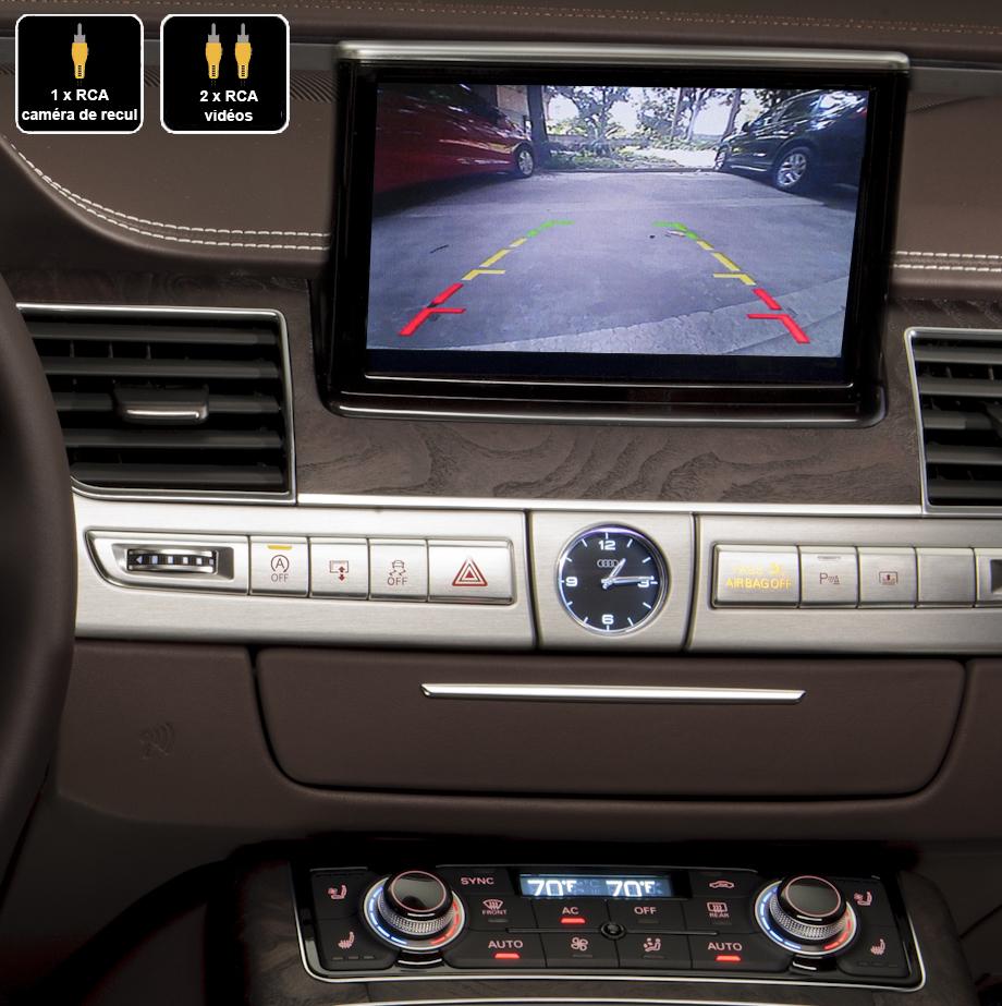 Interface Multimédia vidéo pour caméra de recul Audi A8 de 2010 à 2018